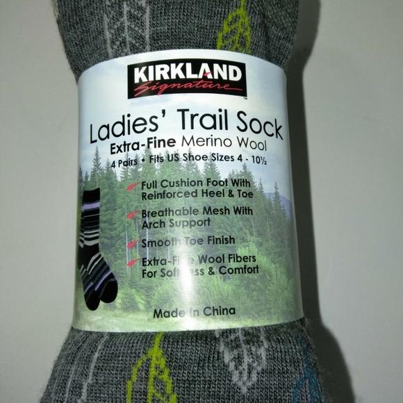 12145193c Ladies Trail Sock Extra Fine Merino Wool 4 Pairs